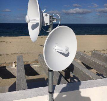 Dual Internet Dish Roof Install