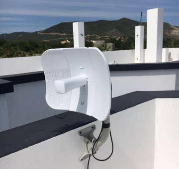 Residential roof antenna install
